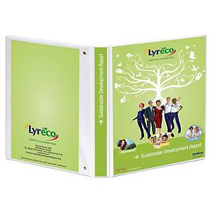 EXTRA WIDE A4 WHITE 4D-RING PRESENTATION BINDER 20MM