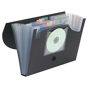 Trieur 12 compartiments PP dos de 35mm noir