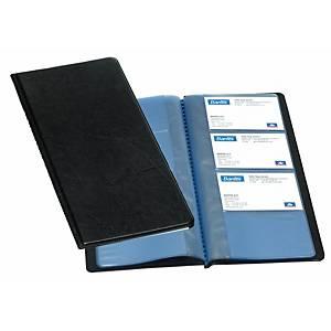 Porte-cartes de visite Elba classique - 25,5 x 12,5 cm - 96 cartes - noir