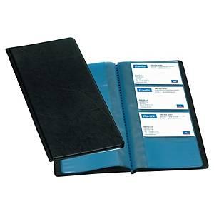 Elba négysoros névjegykártyatartó 96 db névjegykártya számára, fekete