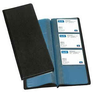 BUSINESS CARD HOLDER BOOK 96 CARDS BLK