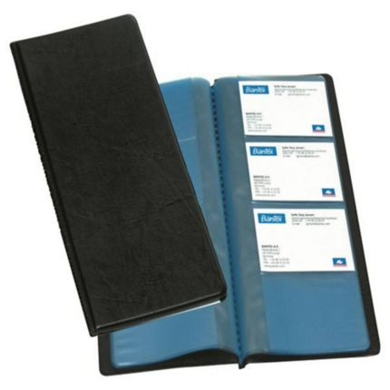 Business card holder book 96 cards blk reheart Images