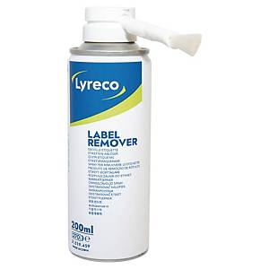 LYRECO LABEL REMOVING SPRAY CAN WITH BRUSH - 200ML