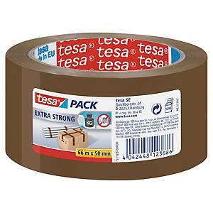 Ruban adhésif d emballage PVC extra fort Tesa - 50 mm x 66 m - havane