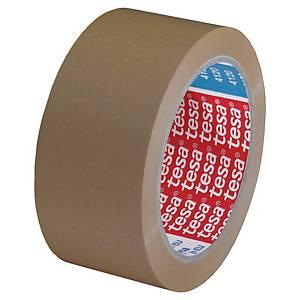 Fita adesiva de embalar extraforte Tesa - 50 mm x 66 m - PVC - castanho