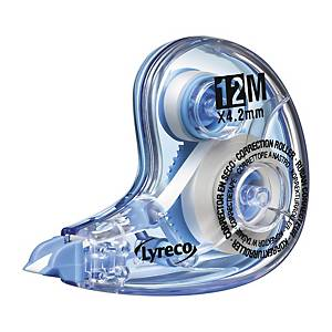 LYRECO CORRECTION TAPE ROLLER - 4.2MM X 12M FILM