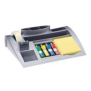 Post-It Note Silver Desktop Organiser With Post-It Notes And Indexes