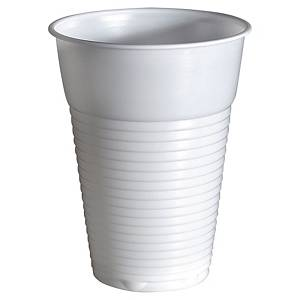 Duni disposable cup 21cl white - pack of 100