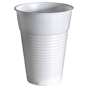 Gobelet en plastique Duni 21 cl - blanc - paquet de 100