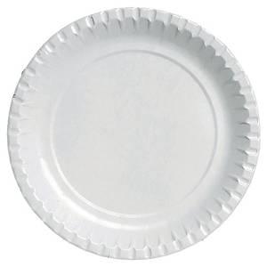 Assiette en carton Duni - recyclable - 22 cm - blanche - paquet de 100