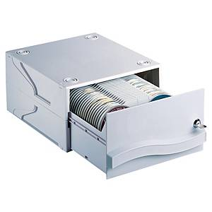 CD/DVD-Box Dataline 67228, Maße: 290x165x330mm, für 120 Stück, grau