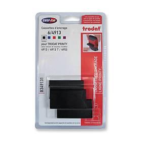 Cartucce timbri autoinchiostranti Trodat 4913/4913typo nero - conf.3