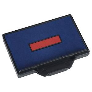 Cassette d encrage Trodat - 6/56 - 6/56/2 - bleu/rouge - lot de 3