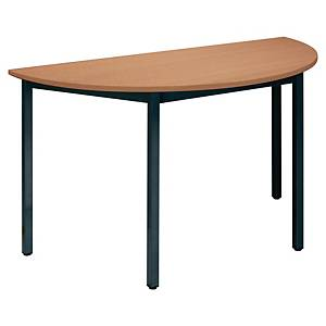 BURONOMIC SEMICIRC TABLE 120X60 BCH/DGRY