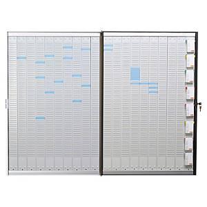 Planning portefeuille Nobo pour fiches T - 20 colonnes - 133,5 x 101 cm