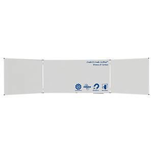 Legamaster Economy Plus triptiek whiteboard, 90 x 240 cm