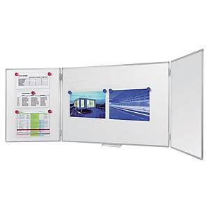 Tableau blanc émaillé Legamaster - triptyque - magnétique - 90 x 120 cm