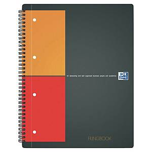 Cahier spirale Oxford Filingbook A4+ - 200 pages - quadrillé