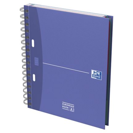 Cahier oxford office european book a5 200 pages 5 x 5 carte rigide spiral - Cahier oxford office book ...