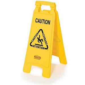Rubbermaid Caution Wet Floor Sign