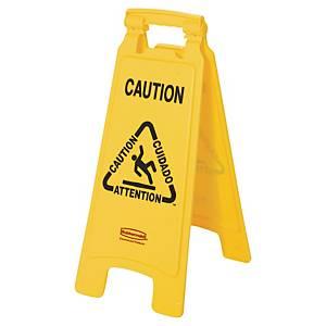 Segnale di sicurezza   Attenzione pavimento bagnato   pieghevole Rubbermaid