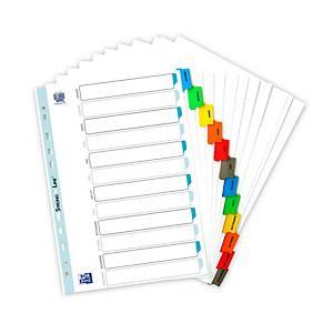 Intercalaire mensuel Elba réversible A4 - carte blanche - 12 touches