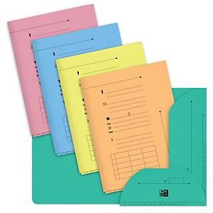 Chemise 2 rabats Elba L Oblique AZ - coloris assortis - paquet de 25