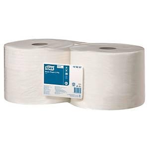 Papier d essuyage Tork Basic pour W1 - 2 plis - blanc - 2 maxi bobines