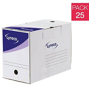 Lyreco Archive Box 200x340x260mm White - Pack Of 25