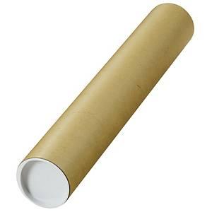 Tubo redondo de cartão para envios - 60 x 460 mm