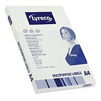 Univerzálne hranaté etikety Lyreco, 105 x 48 mm, 12 etikiet/hárok