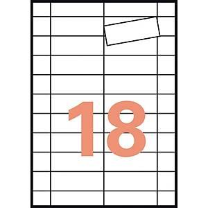 Caja de 90 etiquetas magnéticas Apli 10388 - 199,6 x 289,1 mm - blanco