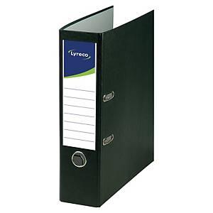 Classeurs à levier Lyreco, A4, dos 8 cm, carton recyclé, noir, le classeur