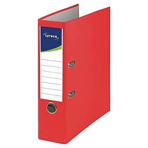 Lyreco Recycolor lever arch file spine 80 mm cardboard red
