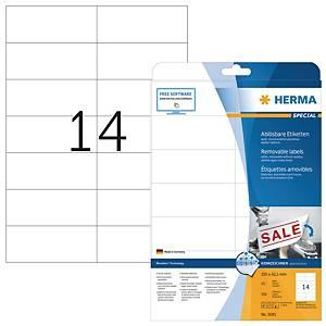 Herma 5081 herpositioneerbare etiketten, 105 x 42,3 mm, doos van 350