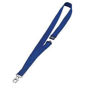Lacet textile pour badge Durable - 44 cm - bleu - boîte de 10