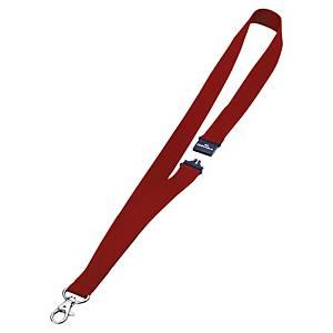 Lacet textile pour badge Durable - 44 cm - rouge - boîte de 10