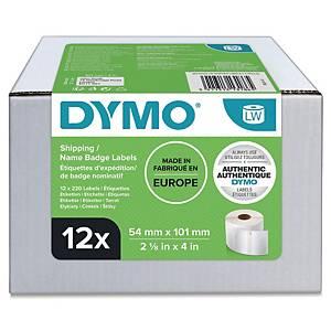 Rollenetiketten Dymo S0722420, 101x54mm, weiß, 12 Rollen/260 Etiketten