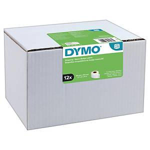 Dymo LW Large Shipping Labels/Name Badges, 54mm X 101mm, 12 Rolls of 220