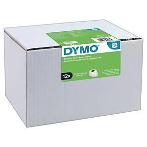 Dymo 13186 verzendetiketten voor labelprinter, 101x54 mm, 12 rollen x 220 labels