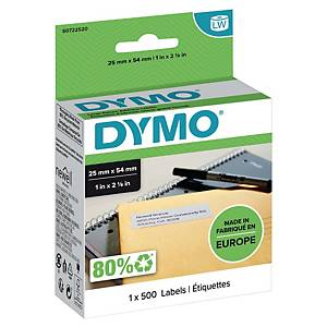 Dymo 11352 address return labels 54x25mm white - box 500