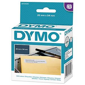 Returadressetikett Dymo LabelWriter, 25 x 54 mm, rulle med 500 etiketter