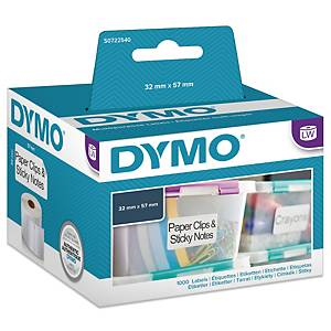 Universaletiket Dymo LabelWriter, 57 x 32 mm, rulle a 1.000 etiketter