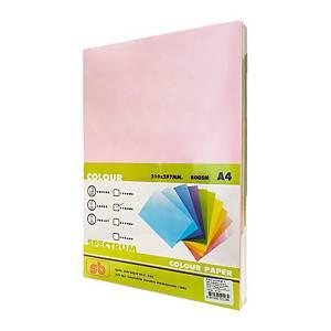 SB กระดาษสี#501A480 แกรม5สี1 แพ็ค 250แผ่น