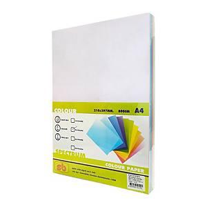 SB กระดาษสี#502A480 แกรม 5สี1 แพ็ค 250แผ่น