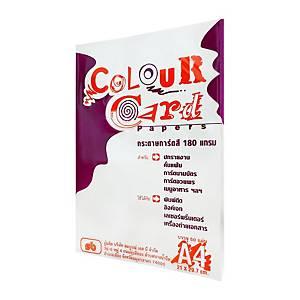 SBกระดาษการ์ดสี A4180 แกรมขาว 1 แพ็ค50แผ่น