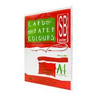 SB กระดาษการ์ดสีA4120 แกรมขาว1 แพ็ค 100แผ่น