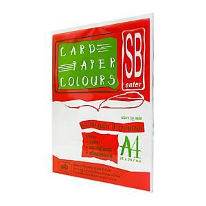 SB กระดาษการ์ดสีA4120 แกรมขาว1 แพ็ค บรรจุ100แผ่น