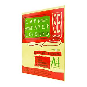 SB COLOURS CARDBOARD A4 120G - YELLOW - PACK OF 100 SHEETS