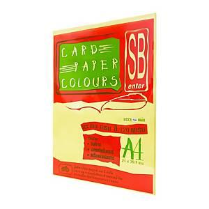 SB กระดาษการ์ดสีA4120 แกรม เหลือง1 แพ็ค บรรจุ 100 แผ่น